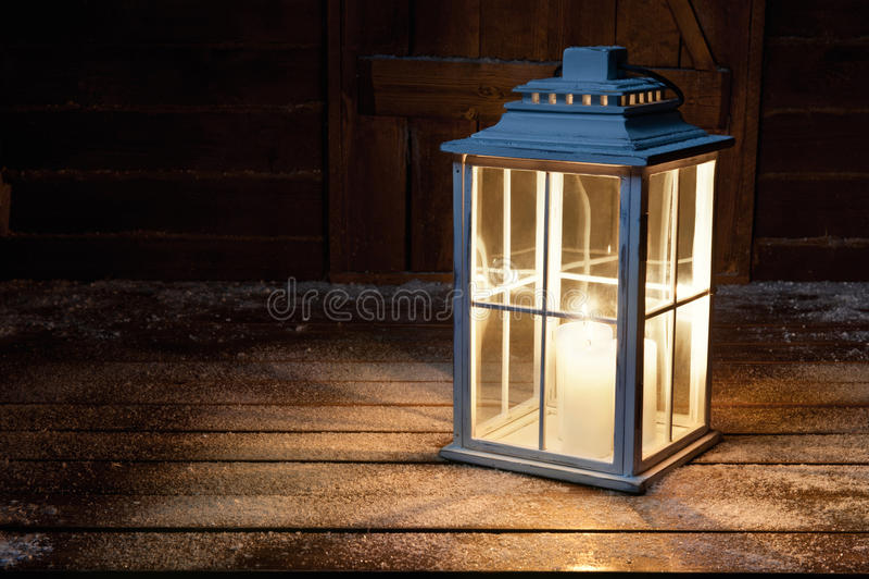 Ogrodowa lampa fotografia stock