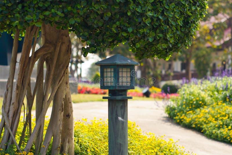 Ogrodowa lampa fotografia royalty free