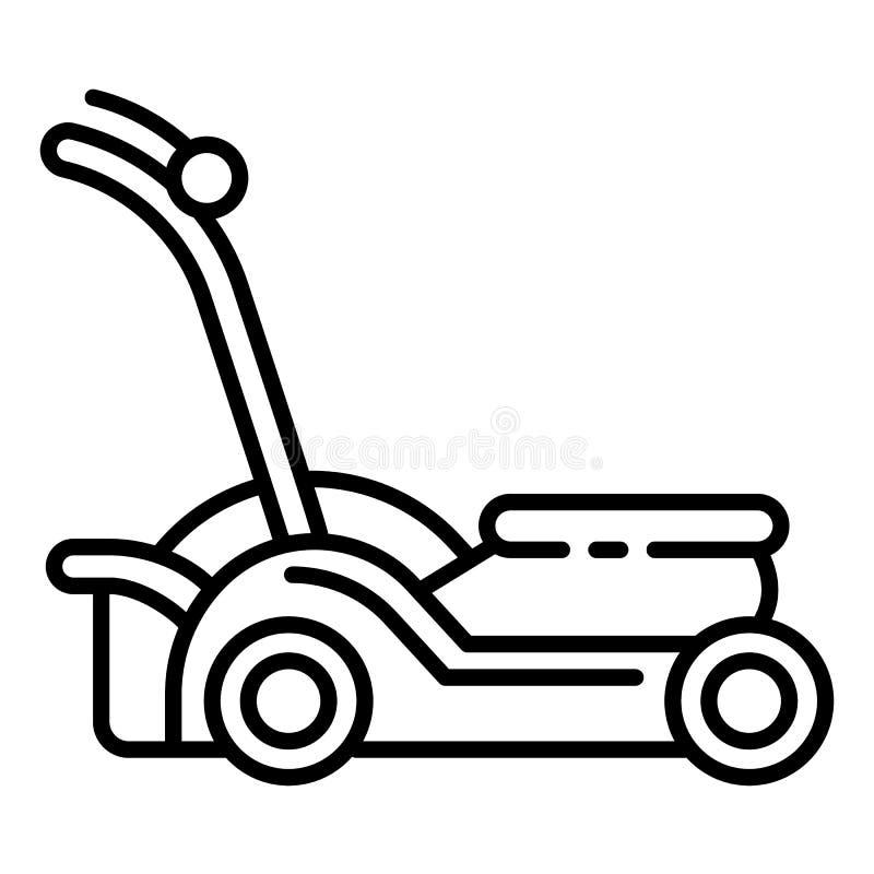 Ogrodowa lawnmower ikona, konturu styl ilustracji