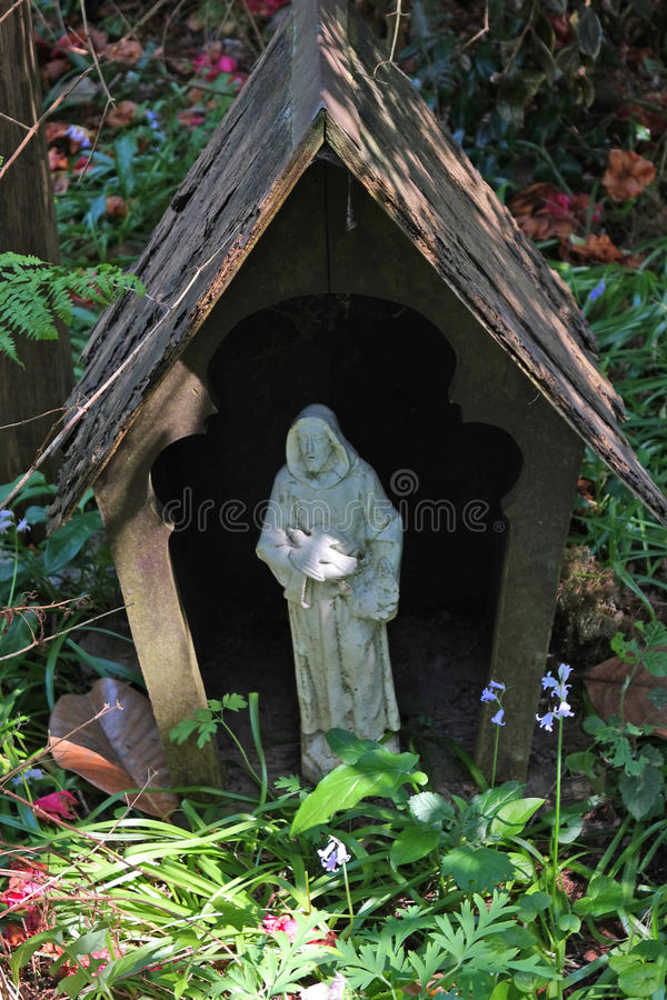 Ogrodowa patron statua obrazy stock