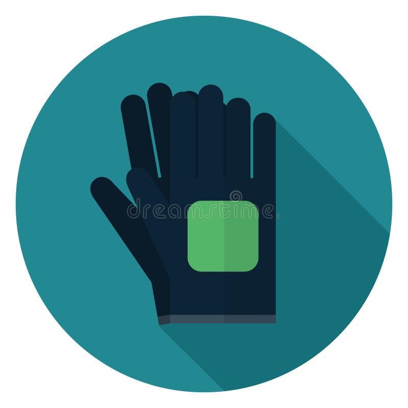 Ogrodowa rękawiczki ikona w płaskim projekcie ilustracji