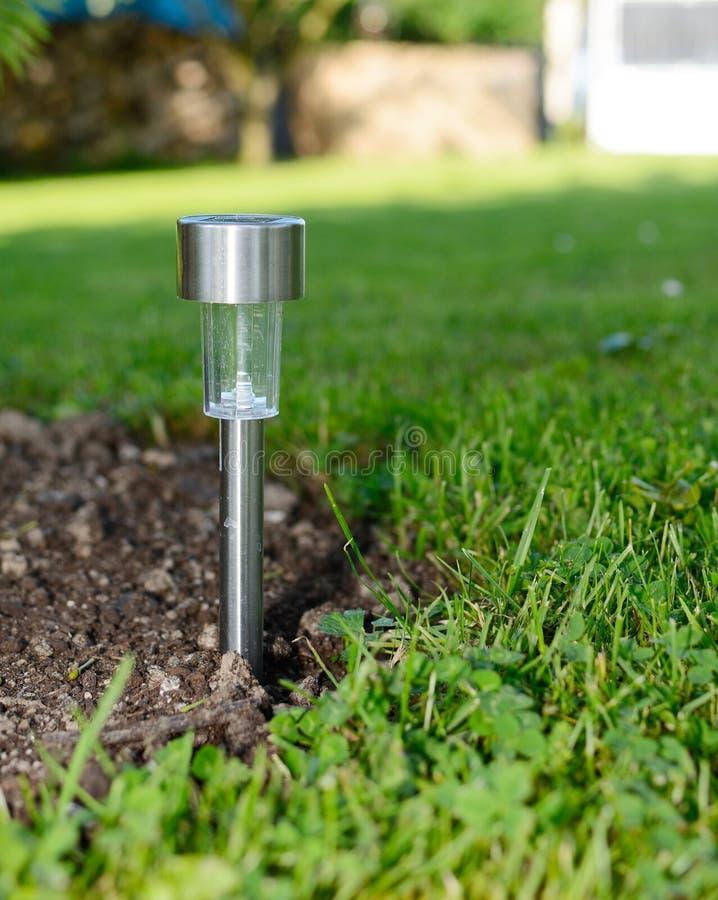 Ogrodowa słoneczna lampa zdjęcie royalty free