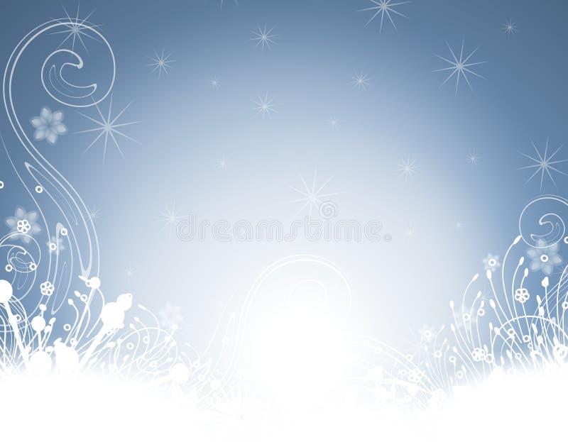 ogrodowa tło zima ilustracji