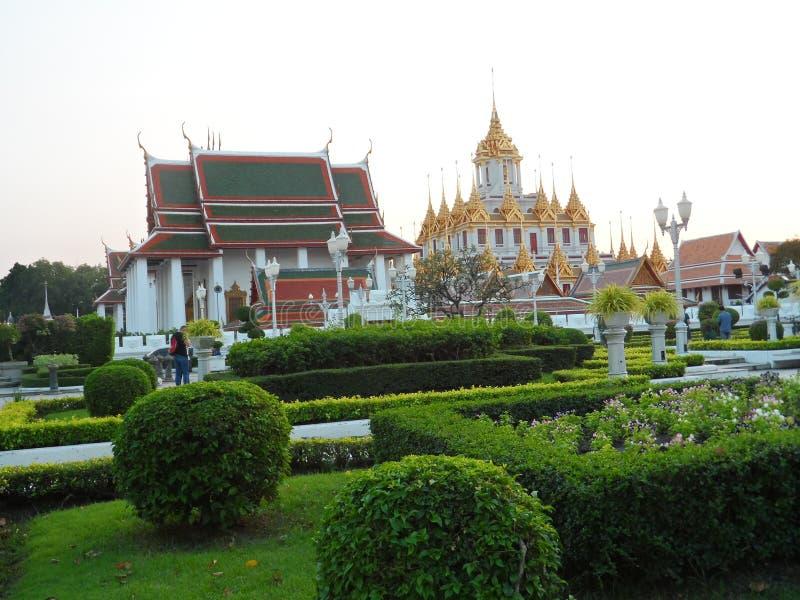 Ogrodowe parkowe fotografie w Bangkok, Tajlandia Tam są wiele ciekawi miejscami Tajlandzkimi i cudzoziemskimi turystami Przychodz zdjęcie stock