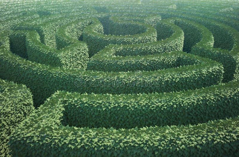 ogrodowego labiryntu odgórny widok fotografia royalty free