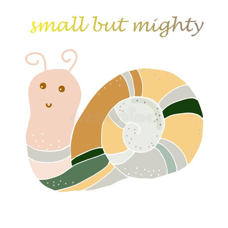 Ogrodowego przyroda ślimaczka zwierzęcy wektor odizolowywający Zarazy ślimakowaty śluzowaty ilustracja wektor
