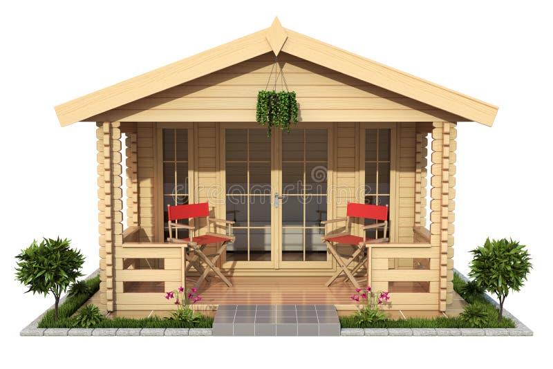 Ogrodowy drewniany kabina ogródu dom ilustracji