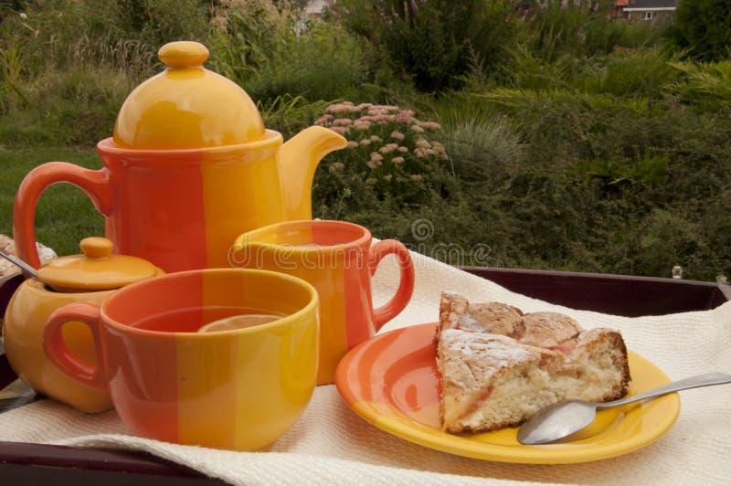 Ogrodowy herbaciany przyjęcie fotografia royalty free