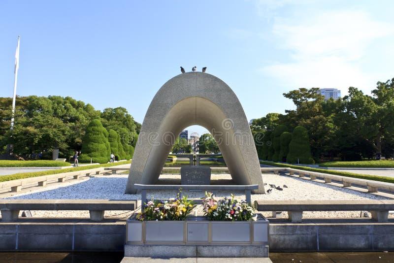 ogrodowy Hiroshima pomnika pokój zdjęcie stock