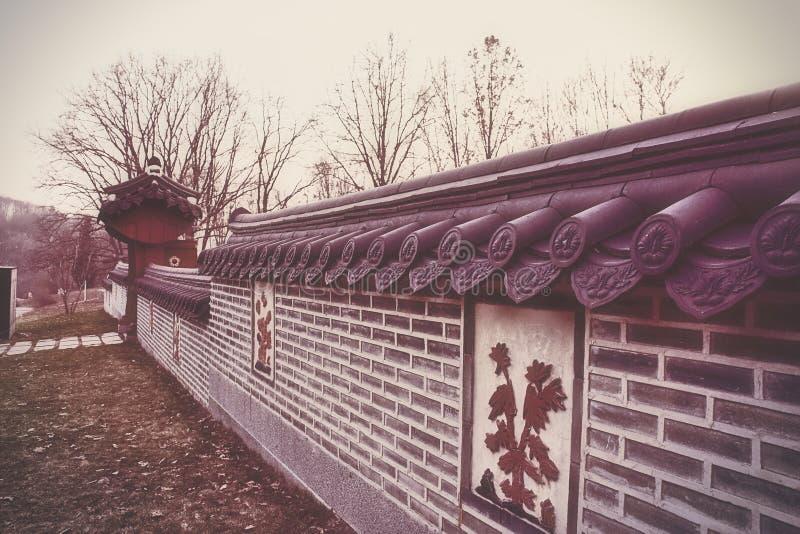 ogrodowy koreański tradycyjny obrazy stock