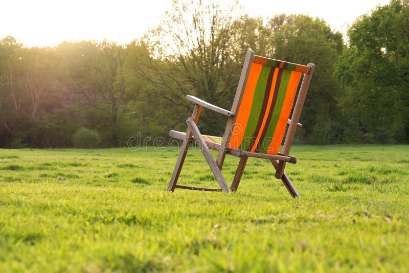 Ogrodowy krzesło fotografia royalty free