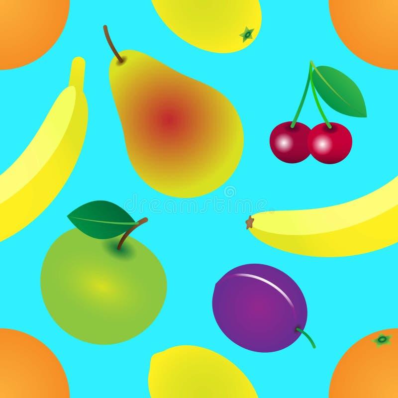 Ogrodowy owoc wz?r royalty ilustracja