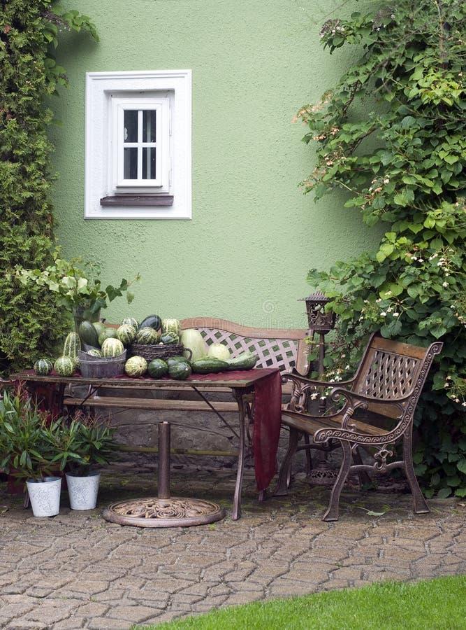 ogrodowy patio obrazy royalty free