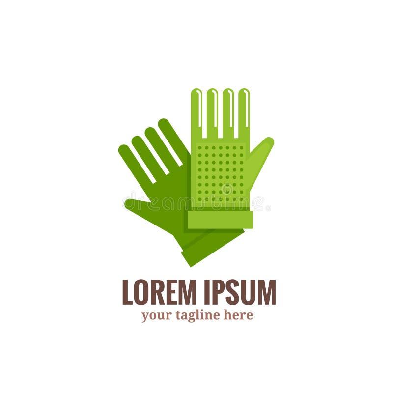 Ogrodowy rękawiczka logo ilustracja wektor