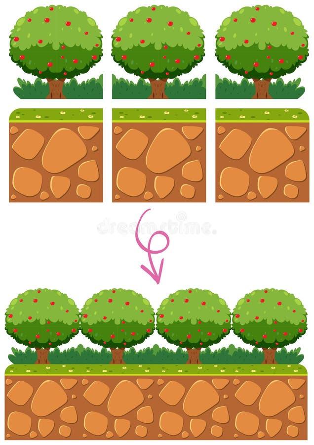 Ogrodowy szablonu element dla gry royalty ilustracja