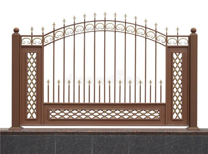 Ogrodzenie na granitowej bazie zdjęcia stock