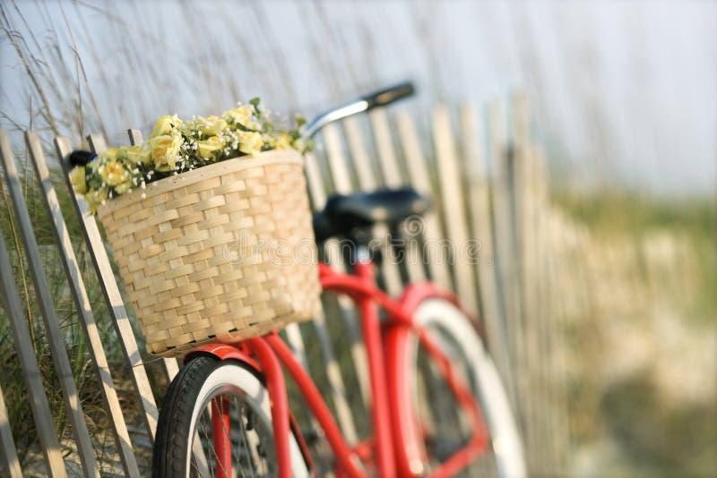 ogrodzenie oprzeć przeciwko roweru zdjęcie stock