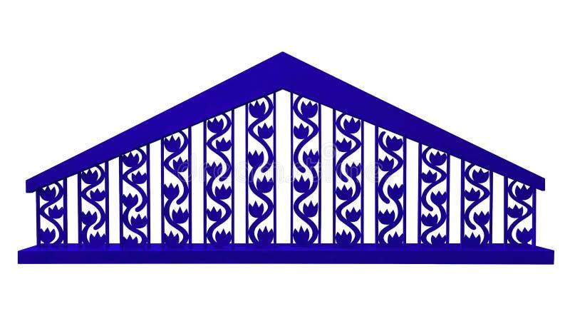 Ogrodzenie ozdobne - niebieskie royalty ilustracja