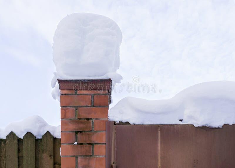 Ogrodzenie w zimie fotografia royalty free