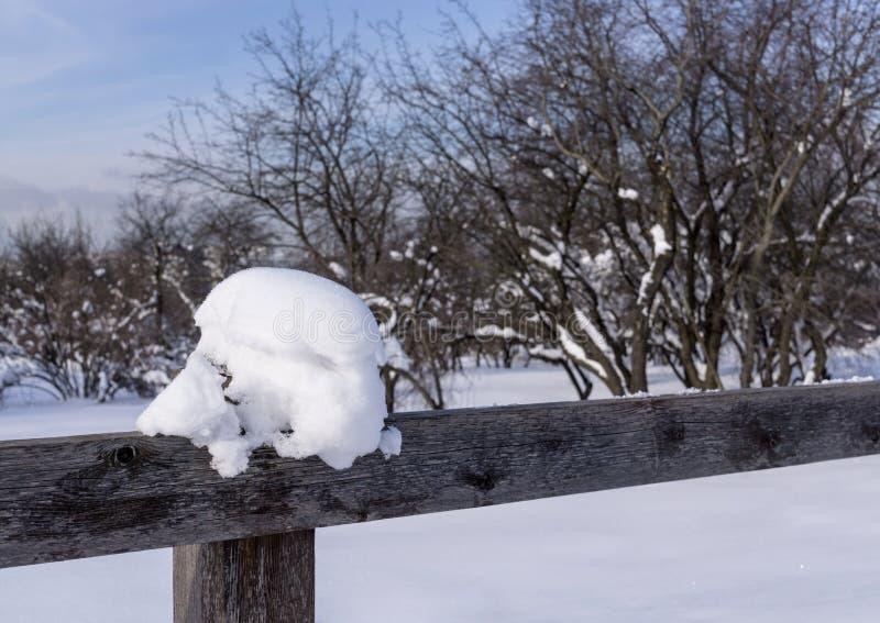 Ogrodzenie w zimie obrazy stock