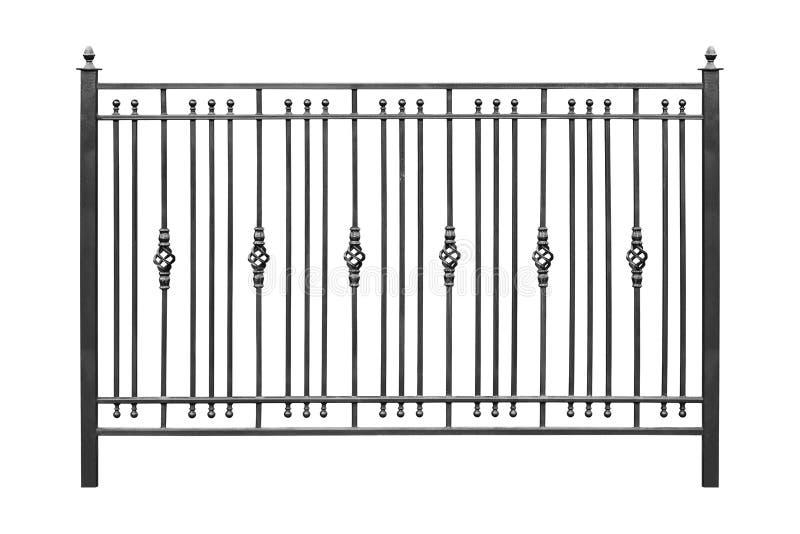 Ogrodzenie z dokonanego żelaza elementami obrazy stock