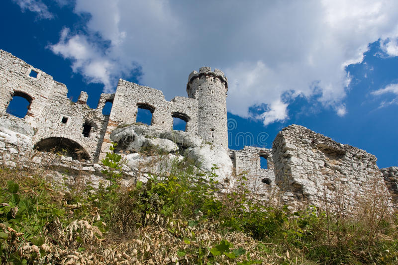 Ogrodzieniec. Old castle located at Ogrodzieniec Poland royalty free stock images