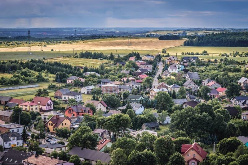Ogrodzienieckasteel in Polen royalty-vrije stock foto