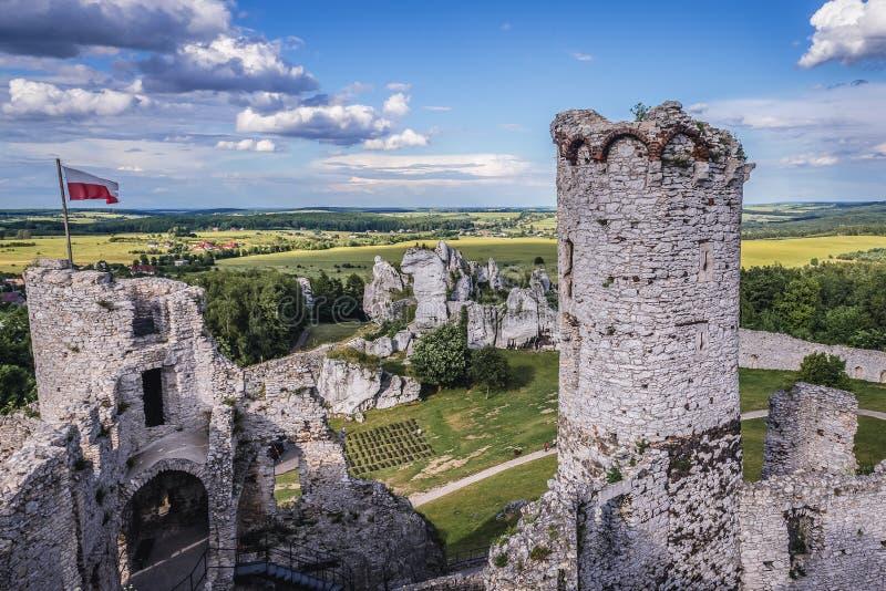 Ogrodzienieckasteel in Polen stock afbeeldingen