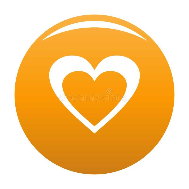 Ogromna kierowa ikony pomarańcze ilustracja wektor