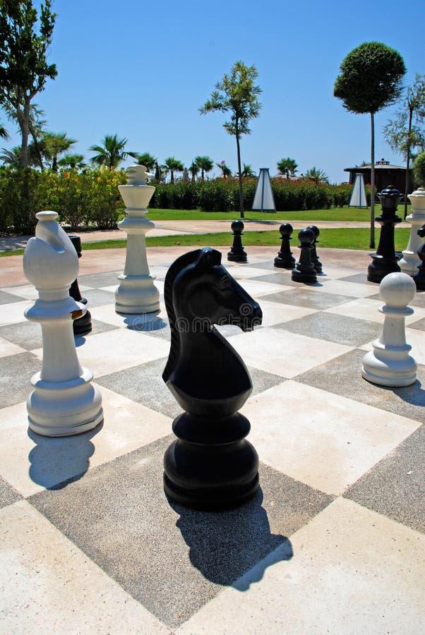 Ogromna plenerowa szachowa deska fotografia stock