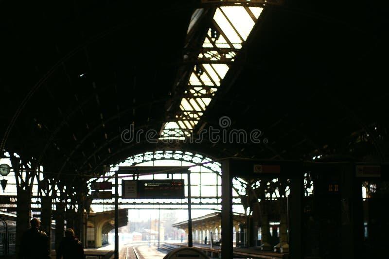 Ogromna stacja kolejowa zdjęcia royalty free