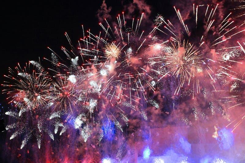 Ogromni fajerwerki w niebie obraz royalty free