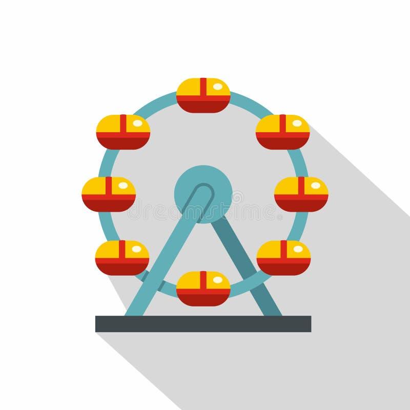Ogromny ferris koło, Kanada ikona, mieszkanie styl royalty ilustracja