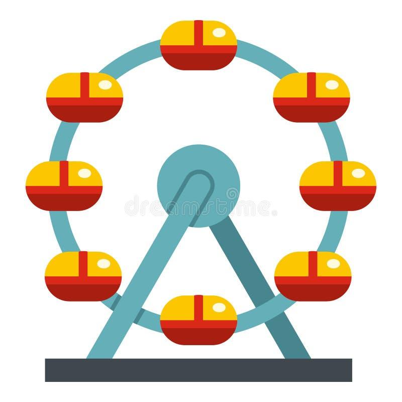 Ogromny ferris koło, Kanada ikona odizolowywająca royalty ilustracja