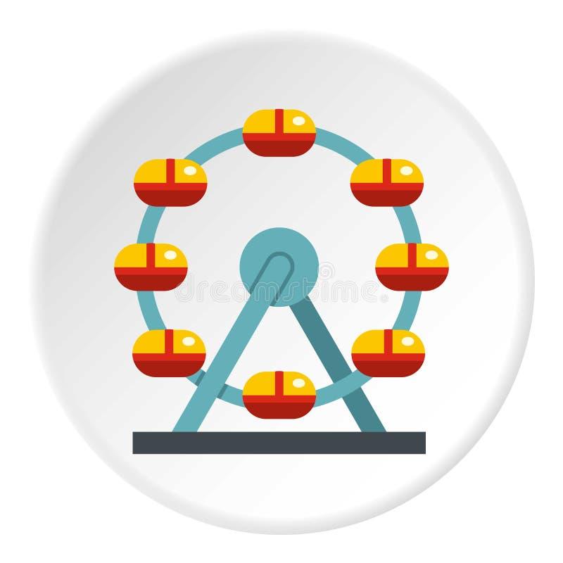 Ogromny ferris koło, Kanada ikony okrąg royalty ilustracja