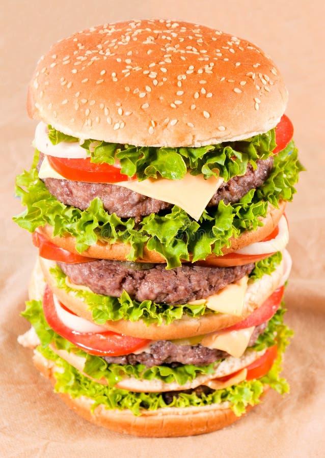 Ogromny hamburger obraz royalty free