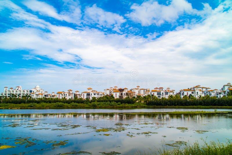 Ogromny Hotelowy kompleks w chiny południowi obraz stock