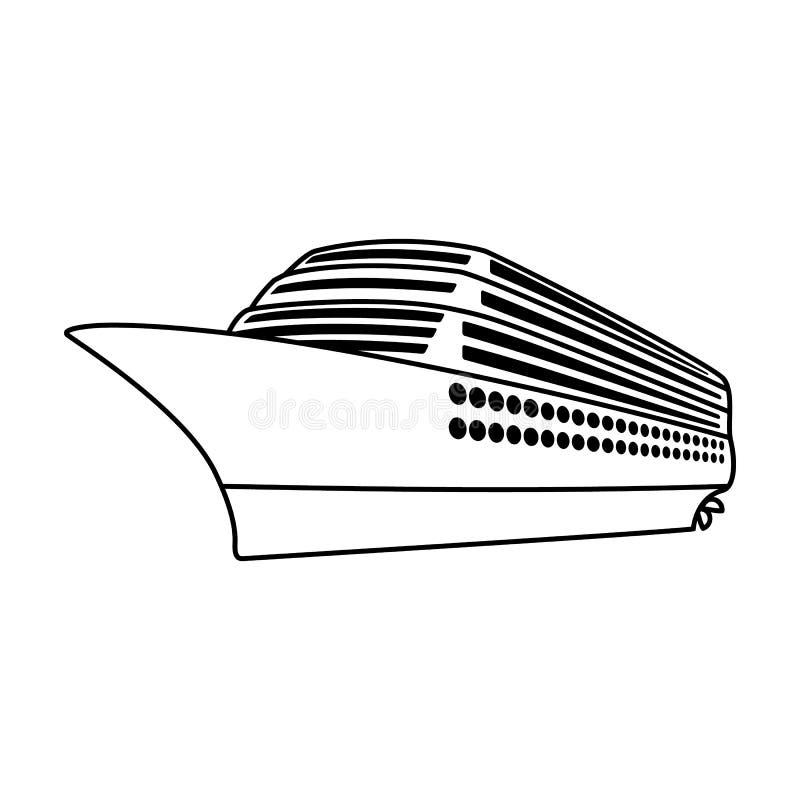 Ogromny rejsu liniowiec Pojazd dla podróżować nad długimi odległościami ogromna liczba ludzie Statku i wody transport ilustracji