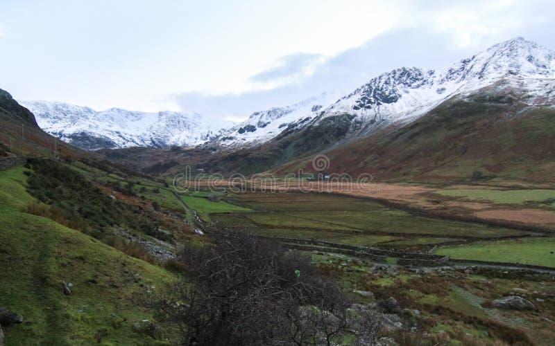 Ogwen dal, Wales, UK royaltyfri foto