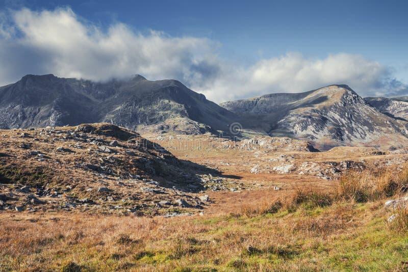 Ogwenvallei op Sunny Autumnal Day in Noord-Wales het UK stock foto