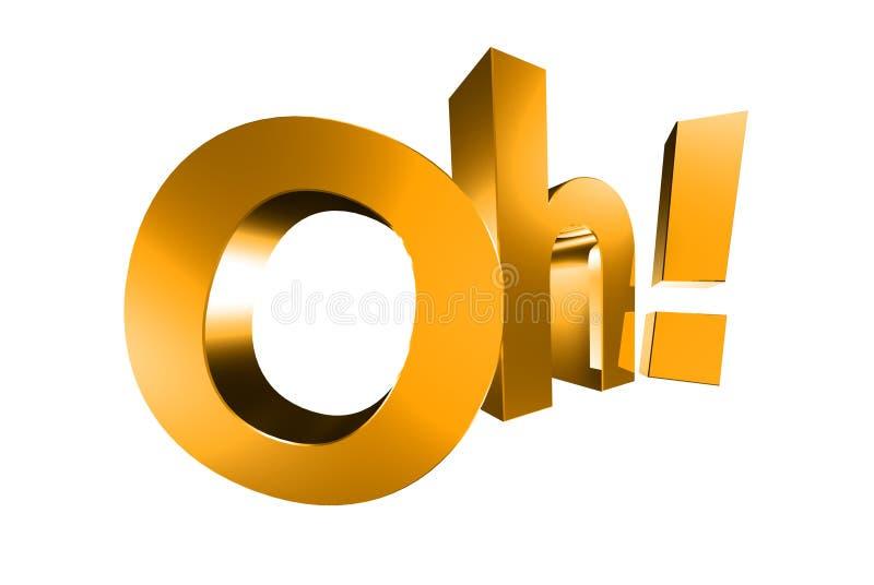 Oh золото 3D иллюстрация вектора