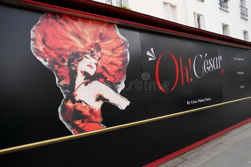 Oh! César show poster royalty free stock photo