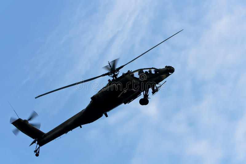 OH hélicoptère de 64 Apache image stock
