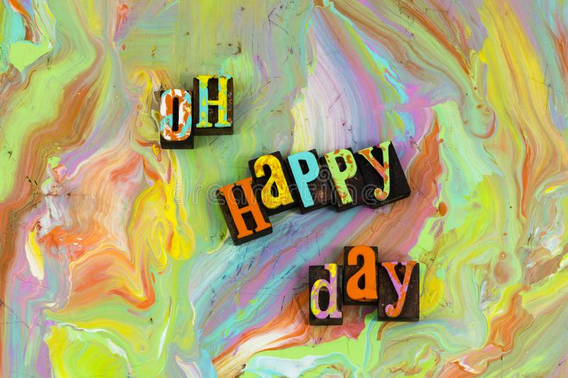 Oh happy day here again royalty free illustration