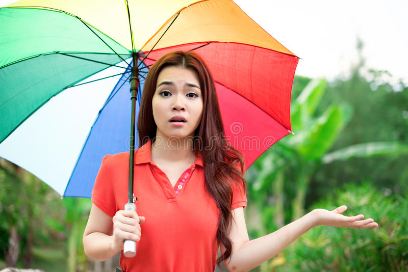 Oh, het is regenachtig! royalty-vrije stock fotografie