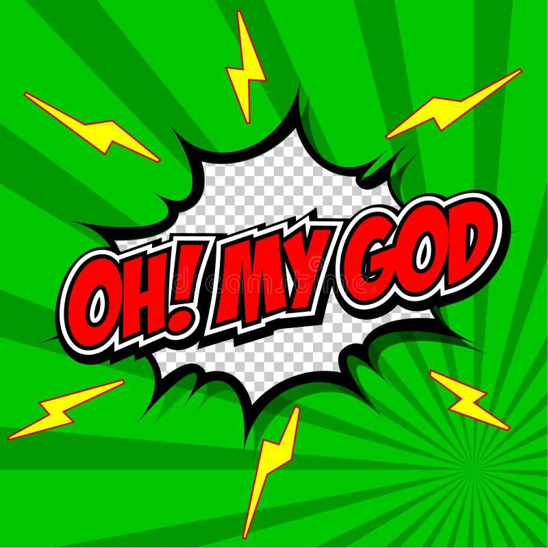 Oh My: Oh! My God Comic Speech Bubble, Cartoon. Stock Vector