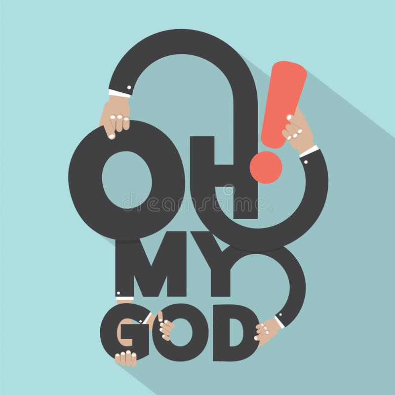 Free Oh My God Typography Design. Stock Photo - 58777540