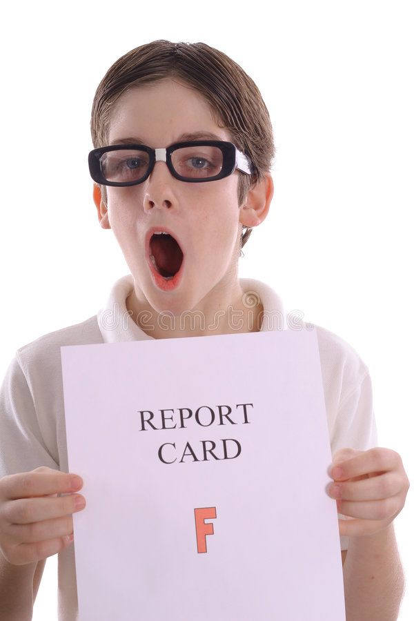OH NO - F on report card royalty free stock photography