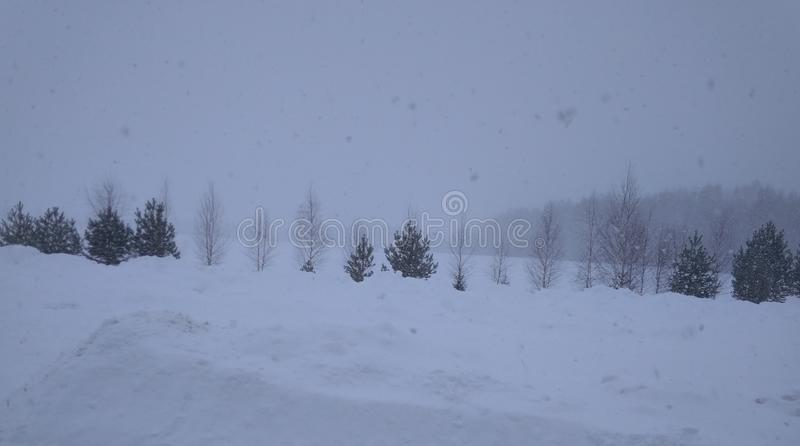 Oh, ten śnieżyca w Rosyjskiej wiosce obrazy royalty free