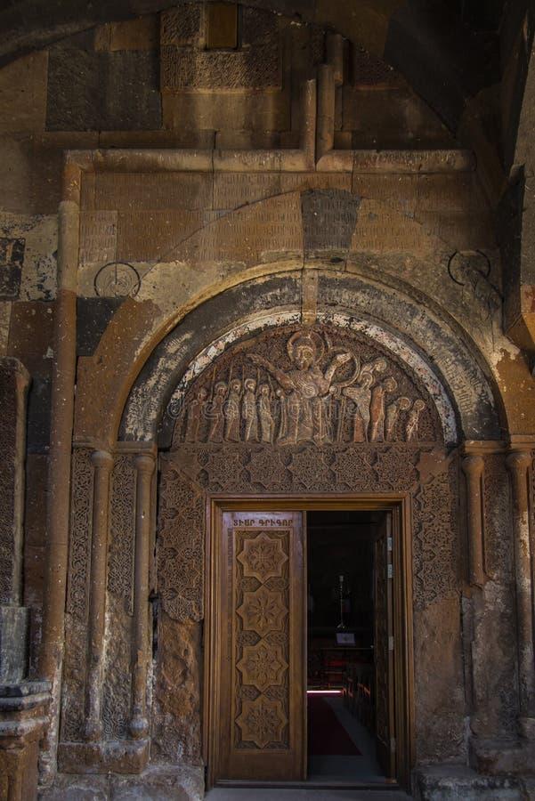 Ohanavan, Armenien, am 15. September 2017: Dekorative Tür zum O stockbilder